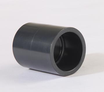 台湾三厘 UPVC直接 接头 UPVC管箍 UPVC塑料直接头工业化工管配件