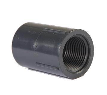 三厘UPVC内丝直接 接头UPVC单双边内牙直接头 UPVC化工管塑料接头