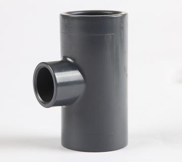 三厘SANKING UPVC塑料三通 UPVC化工管件异三通 UPVC变径中小三通